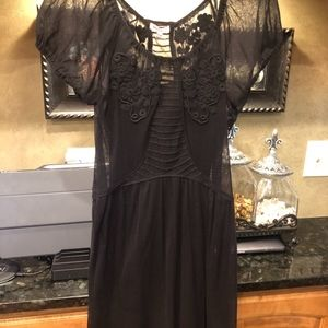 Juicy Couture Black Mesh Dress Large